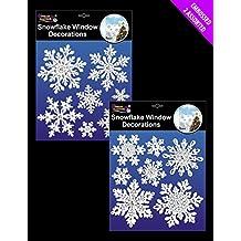 7 unidades de color blanco y plateado para ventana de copo de nieve diseño de ratón