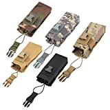 Tbest Sacchetto di immagazzinaggio Leggero di interfono Militare di Nylon tattico del Sacchetto radiofonico Leggero per Il Sistema 5 di Molle(Nero)