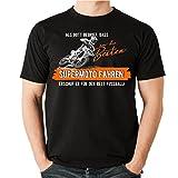Siviwonder Gott Besten Supermoto Fahren Vintage Bike No Fußball - Unisex T-Shirt Shirt Schwarz XL