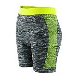 Libella Damen Leggngs Sportshorts Kurze Sporthose Laufhosen Yoga Tight Shorts Sommer Fitness 4139 Grün L/XL