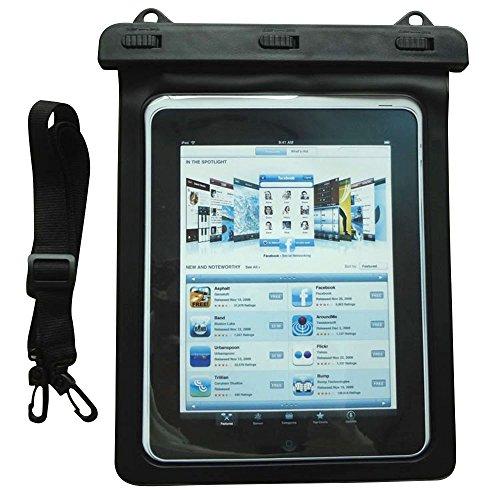 Skitic IPX8 Sacchetto Impermeabile Borse, PVC Touch Screen Dry Bag con Cordino Neve Antivento Resistente Agli Urti Contro lo Sporco Borsa Asciutta Protettiva per iPad 2 /iPad 3 /iPad 4 / iPad Air / Air 2 / iPad Pro 9.7 and Other Tablets ino a 11 Pollici Fit to Spiaggia / Nuoto / Vela / Pesca di Altro Outdoor Attività - Nero