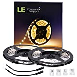 Home Garden Best Deals - LE 2 Pack LED Flexible Strip Lights, 300 Units SMD 3528 LEDs, 5m 12V DC Non-waterproof Light Strips, LED ribbon, Garden/Home/Kitchen/Car/Bar, DIY Party Decoration Lighting , Warm White