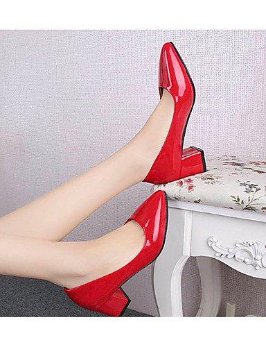 GS~LY Da donna-Tacchi-Casual-Tacchi-Quadrato-PU (Poliuretano)-Nero / Rosa / Rosso / Bianco black-us5 / eu35 / uk3 / cn34