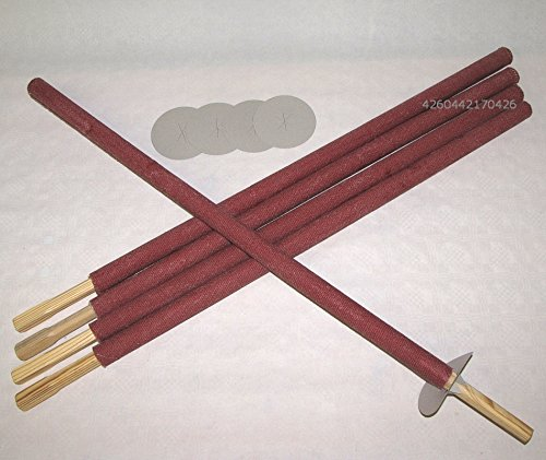 Partylichter Fackeln, rote Wachstuchfackeln Riesenfackeln 5 Stück 75cm mit Griff