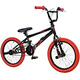 18 Zoll BMX deTOX Freestyle Kinder BMX Anfänger ab 120 cm, 6 J., Farbe:schwarz / rot