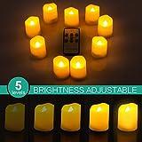 ORIA LED Kerzen mit Timerfunktion, 9 Flammenlose Kerzen Elektrische Teelichter mit Fernbedienun, Batterie & 3 Modi, Romantische Kerzen Teelicht für Weihnachten, Hochzeit, Partys, usw - 6