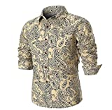 Luckycat Personality Männer Sommer beiläufige dünne Lange Hülse Gedrucktes Hemd Spitzenbluse Mode 2018