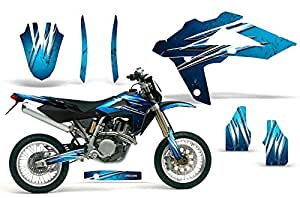 CreatorX Husqvarna SMR 450/530 05-10 & TC/TE 250 05-08 & TC/TE 450 05-10 Graphics Kit Decals Stickers Cold Fusion Blue Ice