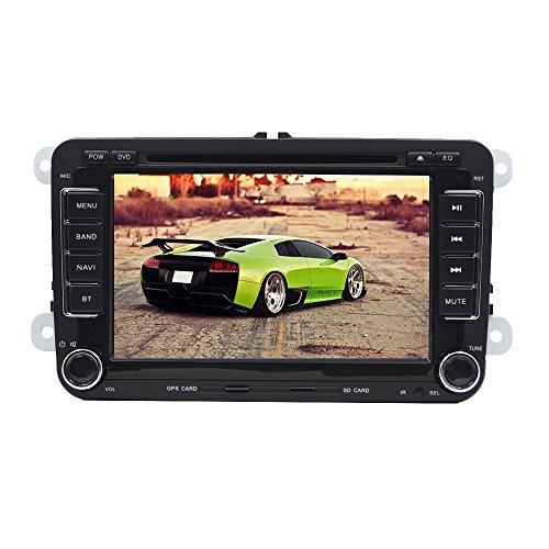 17,8Cm 800* 4802Din Autoradio DVD de Navigation Gps Sat Nav Avec Lecteur DVD, Gps, Radio Am/Fm, cran Tactile, Sd/Usb, Bluetooth