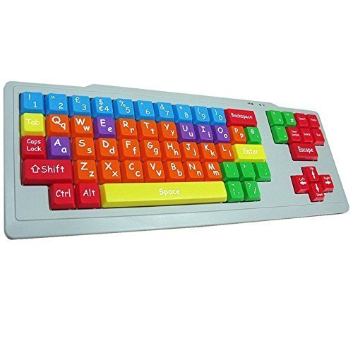 playlearn-special-needs-childrens-computer-usb-keyboard-upper-case-lower-case-color-coded-sen