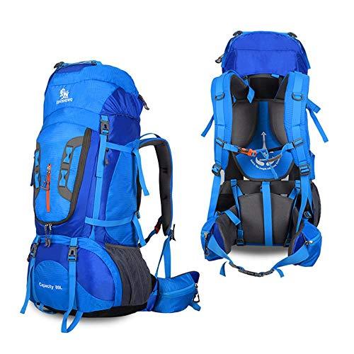 Zaino da viaggio, 80L zaino extra large, multifunzionale impermeabile casual zaino da campeggio per outdoor sport arrampicata Mountaineer 80x 35x 28cm