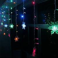 K-Bright 3.5M / 138in 96 LED RGB del fiocco di neve a forma di leggiadramente della stringa di luci di Natale Interni Esterni decorativi tende lampada 8 modi di scintillio per Natale Albero di nozze Albergo decorazione di festival