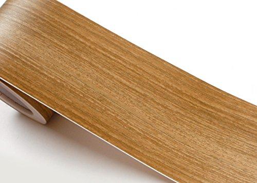 Peel & Stick Grenze Aufkleber Noce Holz Muster Kontakt Papier selbstklebend abnehmbarer Bordüre Rolle kw054-b: 10cm von 1,64Feet (Peel Und Stick Holz Wallpaper)