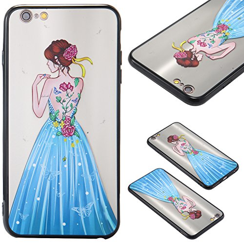 Nancen Hülle Apple iPhone 6 Plus / 6S Plus (5,5 Zoll) . Girl cover TPU Case Handyhülle Backcover Girl cover 10
