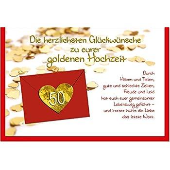 Riesen Goldhochzeit Urkunde Grußkarte Zur Goldenen Hochzeit
