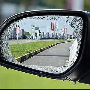 Rexa •Set of 2 Car Rear-View Mirror Film Anti-Fog Membrane Waterproof | Rainproof | Car Mirror | Window | Protective | Dimming Film Car-Styling
