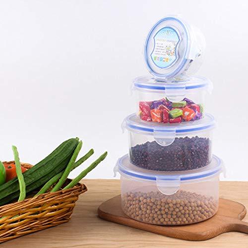 MEIDAY Lebensmittel Container versiegelt Mehrzweck-Knack-Set von 4