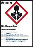 LEMAX® GHS-Etikett Dichlormethan, gem.GefStoffV/GHS/CLP, Folie, 52x74mm, 10/Bogen
