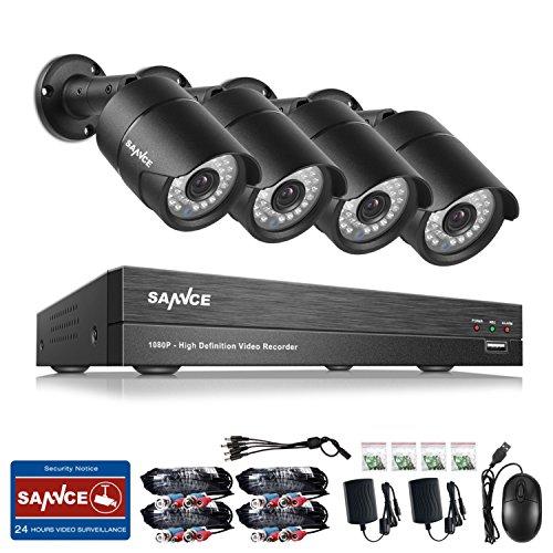 Sannce AHD DVR-Videoüberwachung Set, 8-Kanal, 1080p, mit Videorecorder, IR-Sicherheitskameras, wasserdicht IP66,CCTV-System mit Kugelkameras 3,6mm Ir-video