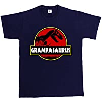 Fancy A Snuggle Grampasauras Grandad Grampa Funny Fathers Day T- Rex Old Dinosaur Mens T-Shirt Large Navy