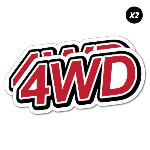 2X 4WD 4x4 Offroad Sticker Decal 4x4 4WD Funny Ute
