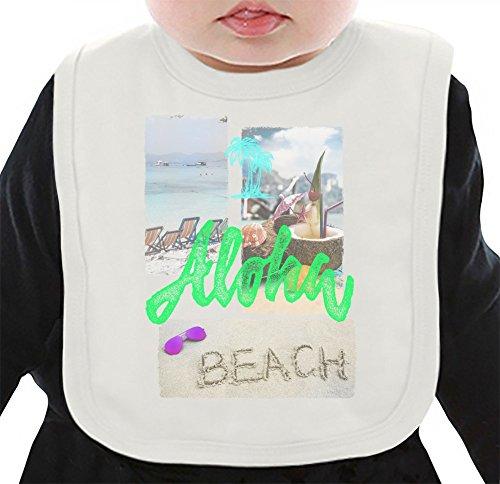 Aloha Summer Vibes Organisches Lätzchen Medium (Aloha Shirt Jungen)