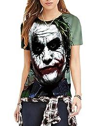 0ed154567bd5 Aivosen Damen Stilvoll 3D-Bedrucktes T-Shirt mit Rundhalsausschnitt Kurzarm  Blusen Shirts Tops Sommer