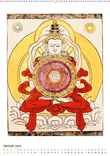 Mit Buddha durchs Jahr: historische Zeichnungen(Premium, hochwertiger DIN A2 Wandkalender 2020, Kunstdruck in Hochglanz): Buddha: Meditative, historische Zeichnungen (Monatskalender, 14 Seiten )