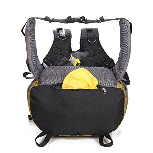 Outdoor Bergsteigen Rucksack Unisex Reise Schulter Tasche Yellow