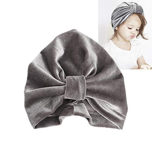 Baby Velvet Knot Turban Knotted Hat Warm Soft Twist Wrap Bow Cap Set for Newborn Baby Girls Toddlers 4 Pcs,2378 Velvet Bow Headband