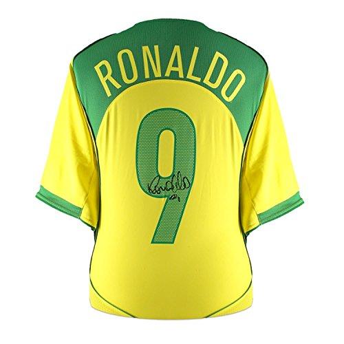 Exclusive Memorabilia Ronaldo de Lima Signed 2004-06 Brazil Home Shirt