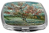 Rikki Knight Compact Mirror, Van Gogh Art Pink Peach Trees