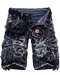 Hombre Pantalones Cortos De Playa ZARLLE Militar Camuflaje PantalóN Casuales Shorts Para Verano Pantalones Cortos De Playa… RzMnHgFEWu