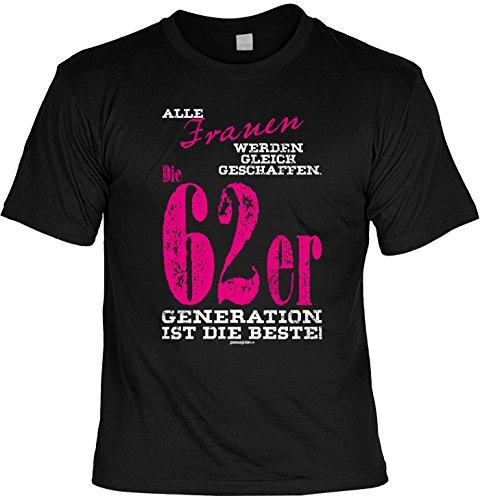T-Shirt Frauen 62er Generation T-Shirt zum 55. Geburtstag Geschenk zum 55 Geburtstag 55 Jahre Geburtstagsgeschenk 55-jähriger Schwarz