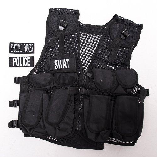S.W.A.T Weste Kinder SPECIAL FORCES Polizei-Weste Soldat Verkleidung Einsatz-Weste Jungen Geschenkidee Kinderkostüm Militär Agent top ()