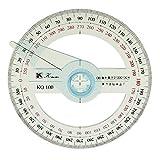 Rapporteur 360°- 100mm Diamètre Outil De Mathématique Bureau Scolaire
