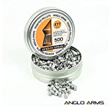 500-x-Anglo-Arms-45mm-177-Pointed-Standard-Air-Rifle-Shooting-Pellets-In-Tin