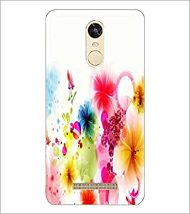 PrintDhaba Coloured Flower D-2190 Back Case Cover for XIAOMI REDMI NOTE 3 PRO (Multi-Coloured)