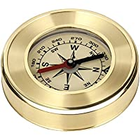NALITARE Compass Portable Pocket Gold Waterproof Anti-shock Outdoor Hiking Camping Compass Navigation Tool