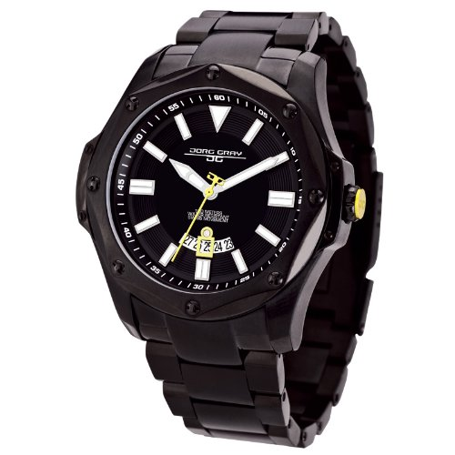 Jorg Gray JG9100-23 - Reloj Suizo para Hombre, visualización de Fecha, Cristal de Zafiro, Pulsera de Acero Inoxidable