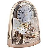 Ritmo 4sg607wb13arco péndulo reloj de mesa en nuevo oro rosa acabado