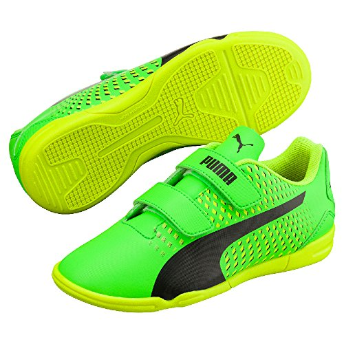 Puma Adreno III IT V Jr - green gecko-puma black-safety green gecko-Puma Black-safety yellow