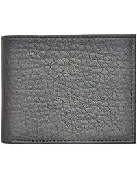 Ajeraa Mens Genuine Leather Wallet Black