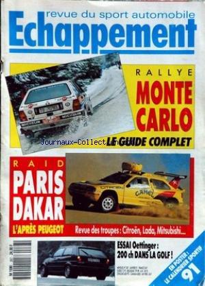 echappement-no-267-du-01-01-1991-rallye-monte-carlo-raid-paris-dakar-citroen-lada-mitsubishi-essai-o