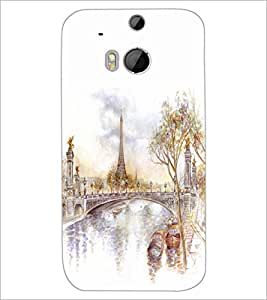 HTC ONE M8 EYE PAINTING Designer Back Cover Case By PRINTSWAG
