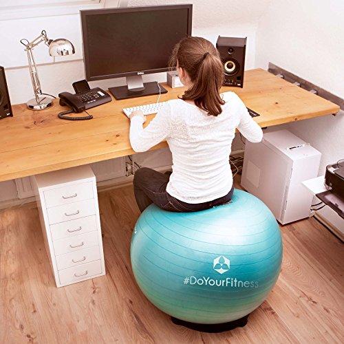 Gymnastik-Ball »Pluto« / Robuster Sitzball und Fitnessball / 65 cm / türkis - 4