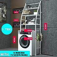 Stainless Steel Shelf Bathroom Space Saver, 3-Tier Toilet Towel Storage Rack Holder Over The Bathroom Toilet S