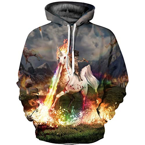 QWE Kapuzen-Sweatshirt, 3D-Bedruckt, mit Kapuze, langärmelig, langärmelig, Unisex-Kleidung, langärmlig, 13, XXL/XXXL