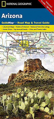 National Geographic Arizona: Road Map & Travel