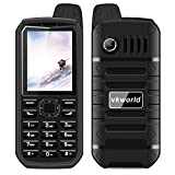 """Vkworld Stone V3 Plus Mobile Phone 2.4"""" Waterproof Shockproof Dustproof Sim-Free Cellphone with Big Button, Strong Signal Anti-Low Temperature 3000mAh Long Standby Dual SIM GSM (Black)"""